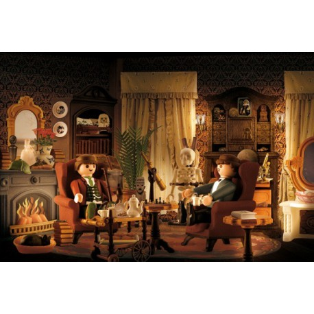 tableau humoristique salon de sherlock holmes par richard unglik. Black Bedroom Furniture Sets. Home Design Ideas