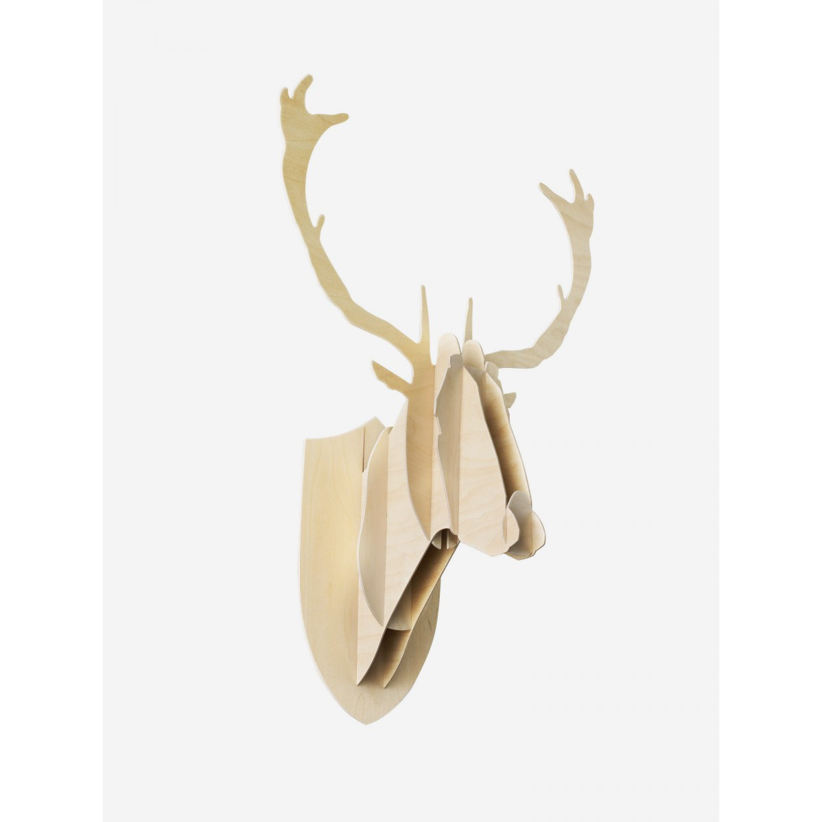 Troph e t te de cerf en bois sign big game - Tete de cerf deco ...