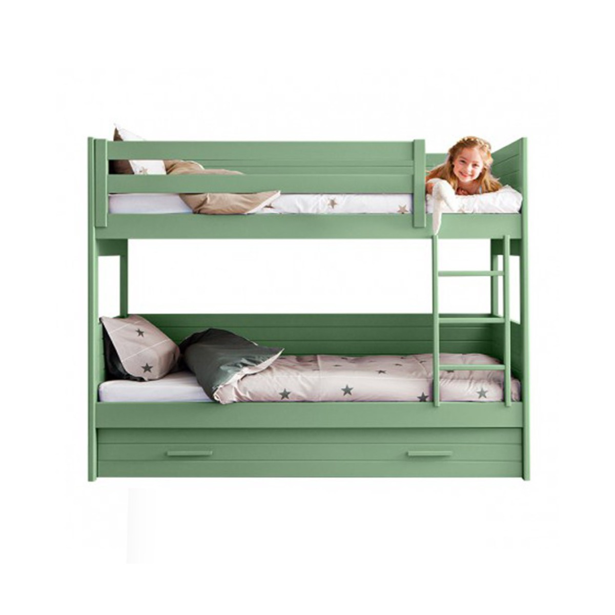 Lit superpos double couchage pour enfants junior cometa asoral - Lit superpose banquette ...