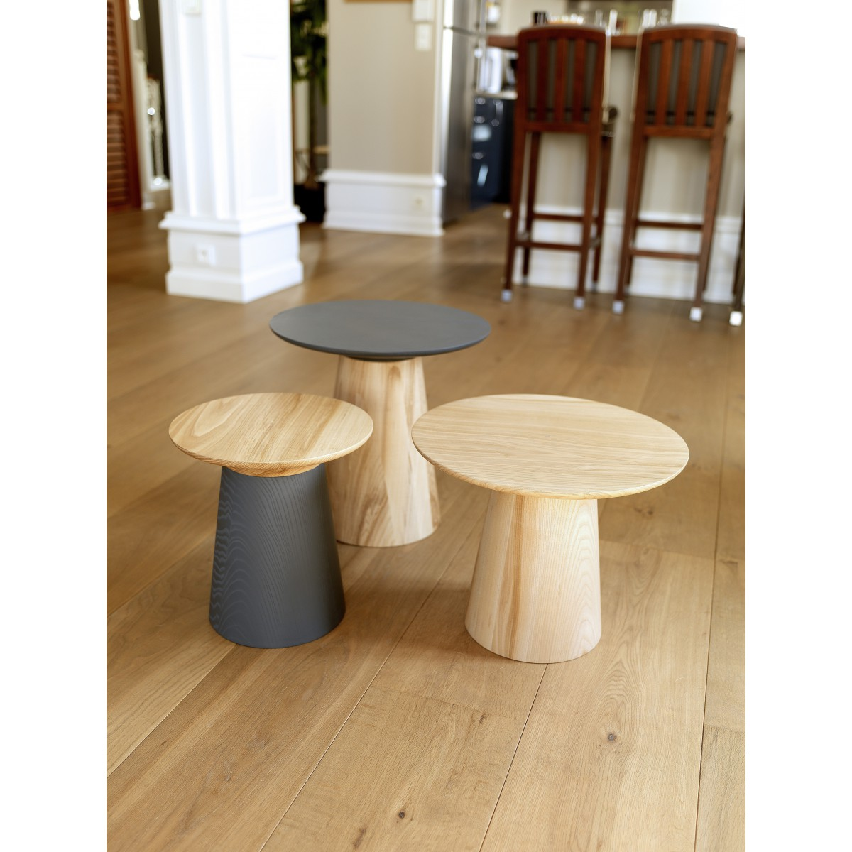 Gu ridon design scandinave sign b com wood - Table d appoint design ...