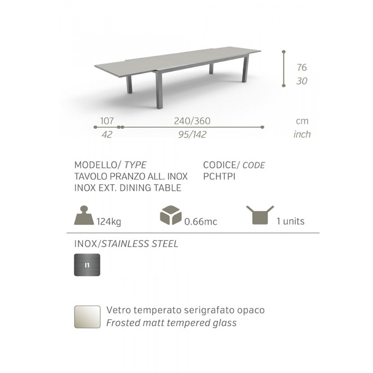 Table manger extensible design patch par talenti for Table extensible 350 cm