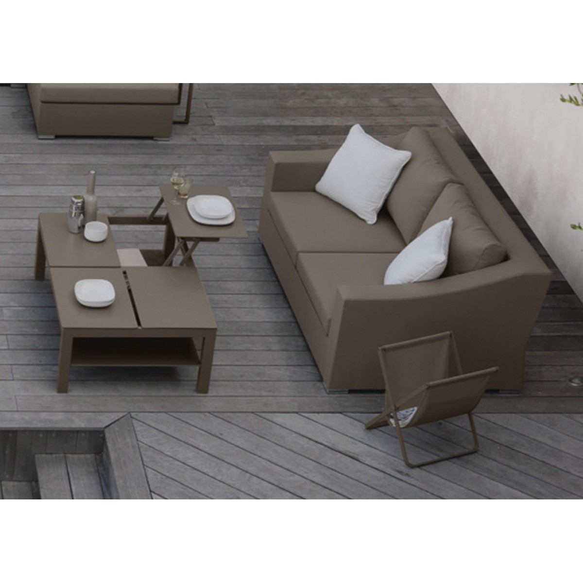 Canap de jardin confortable de qualit chic par talenti for Canape contemporain