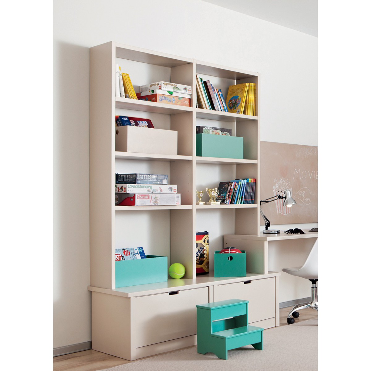 biblioth que design et color e haut de gamme pour enfants asoral. Black Bedroom Furniture Sets. Home Design Ideas