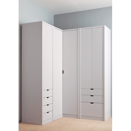 armoire d 39 angle design 20 couleurs au choix asoral. Black Bedroom Furniture Sets. Home Design Ideas