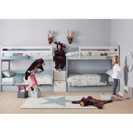 chambre d 39 enfants 4 6 lits sign e asoral. Black Bedroom Furniture Sets. Home Design Ideas