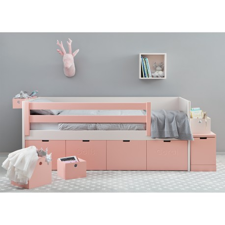 lit corail avec tiroirs de rangement design et pratique asoral. Black Bedroom Furniture Sets. Home Design Ideas