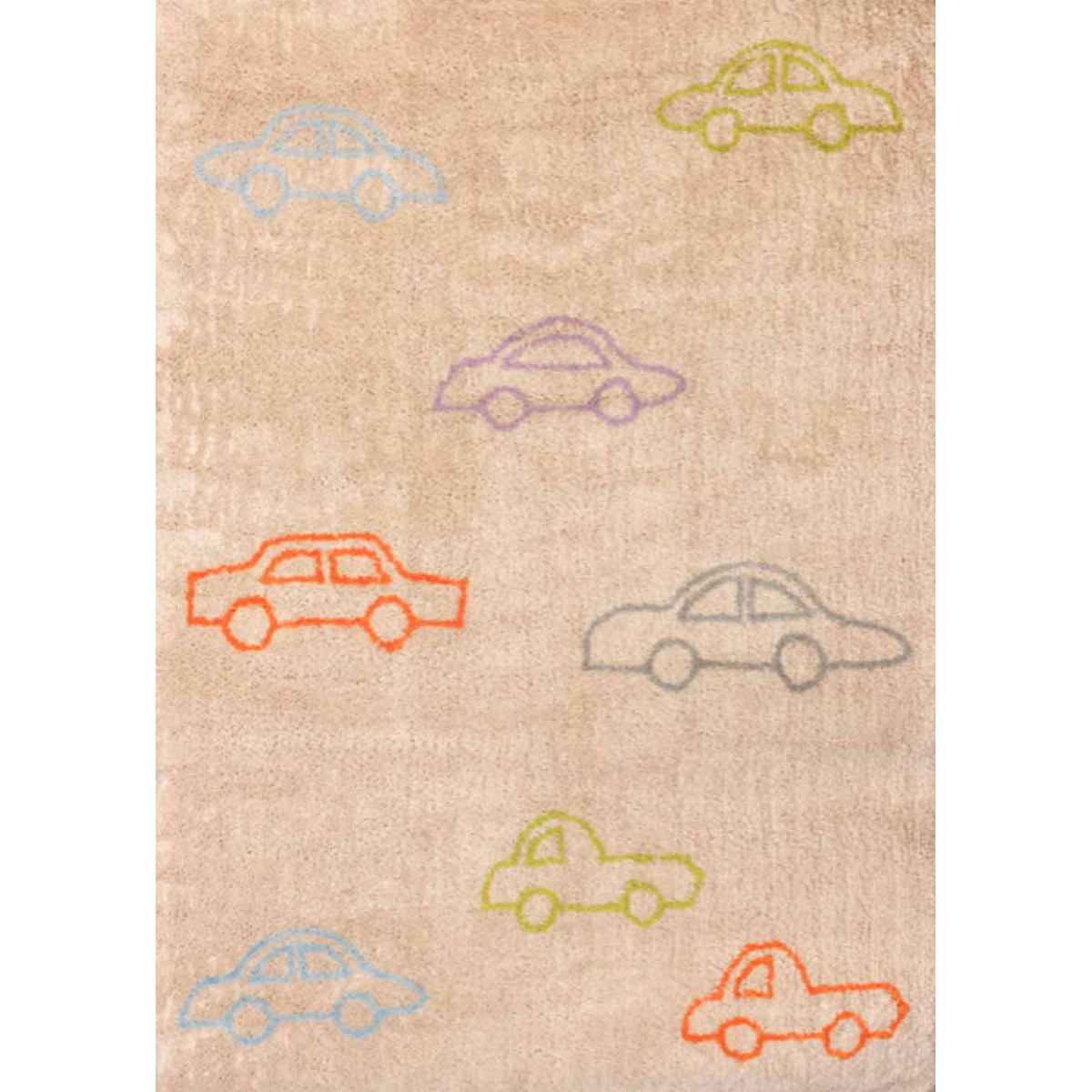 tapis enfants motif voiture bleu marron ou multicolore. Black Bedroom Furniture Sets. Home Design Ideas