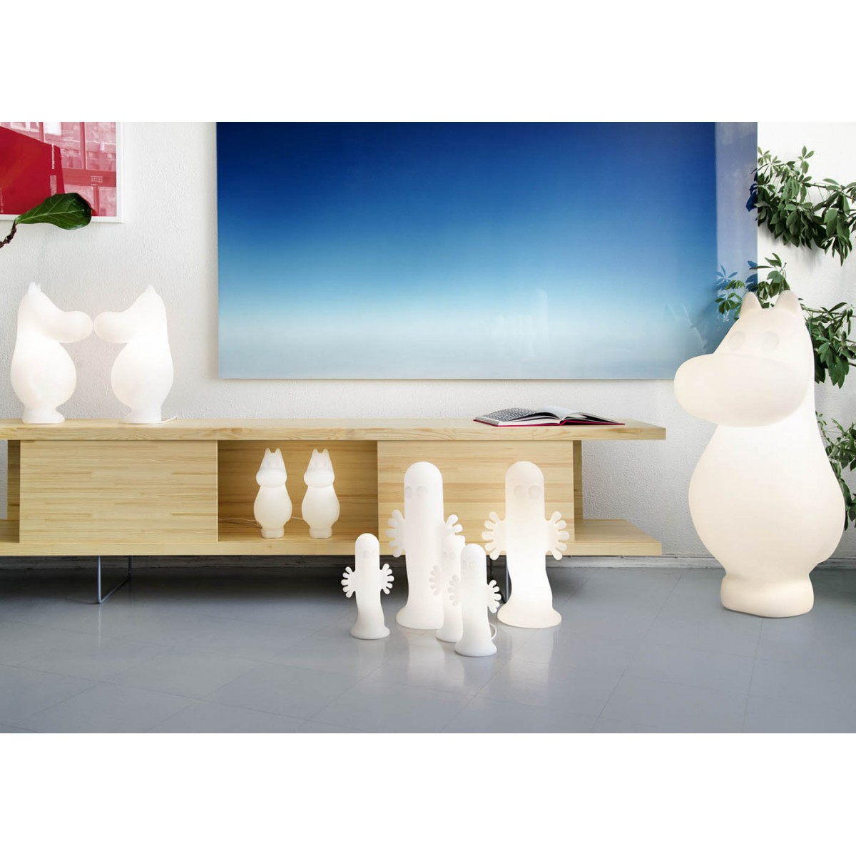 lampe d 39 ambiance originale moomin par harri koskinen. Black Bedroom Furniture Sets. Home Design Ideas