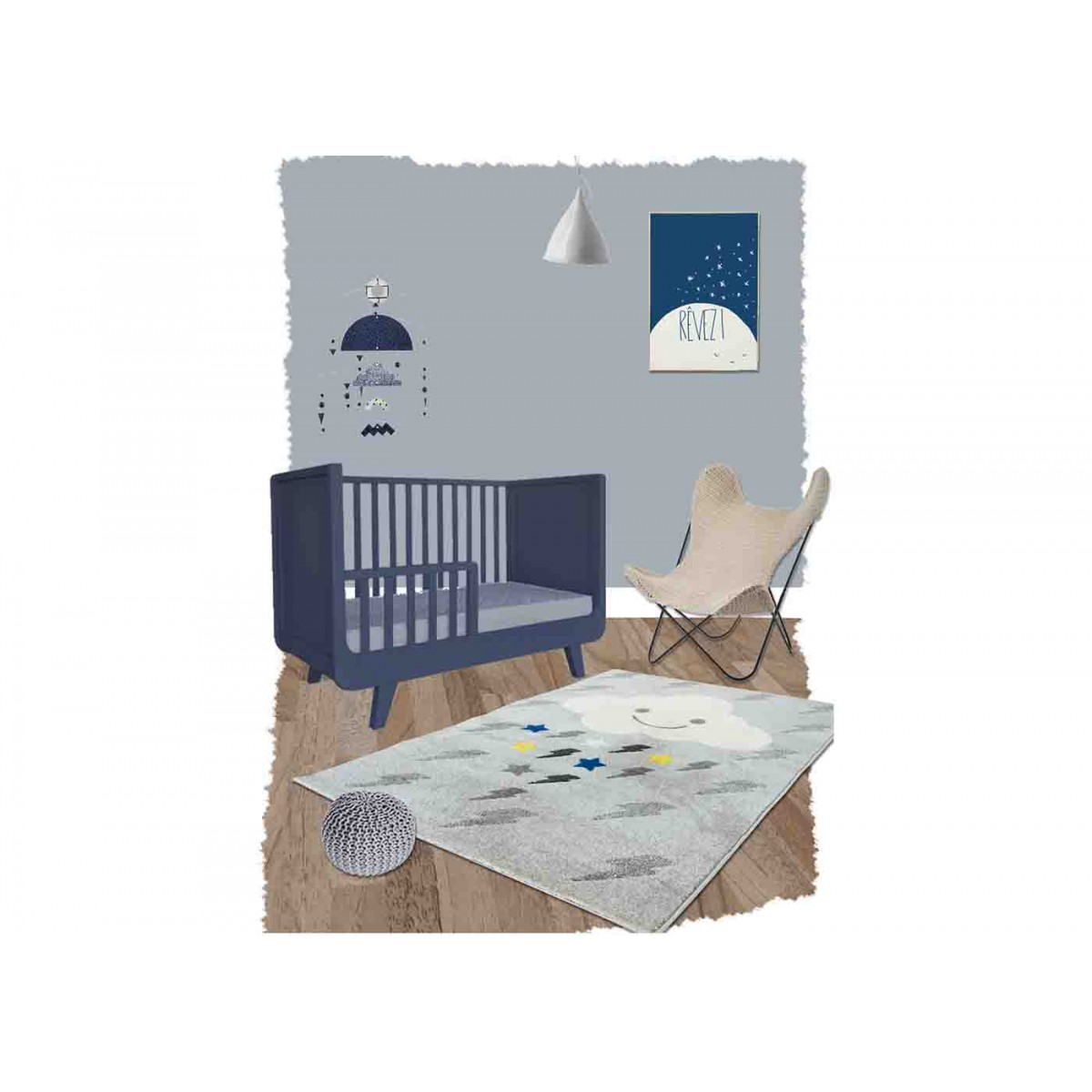 Tapis nuage bebe excellent deco chambre taupe pin tapis for Causeuse dormeur ikea
