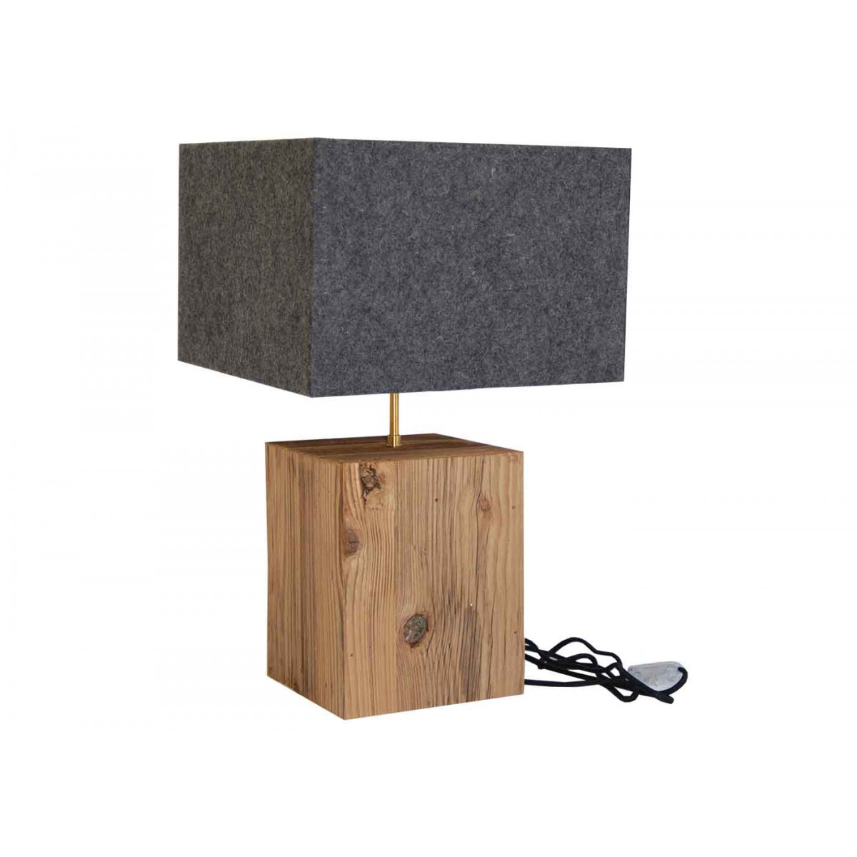 lampe d corative design montagne en laine feutr e et bois. Black Bedroom Furniture Sets. Home Design Ideas