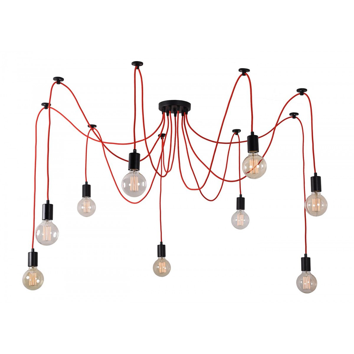 Suspension moderne avec ampoules d coratives filaments for Suspension contemporaine