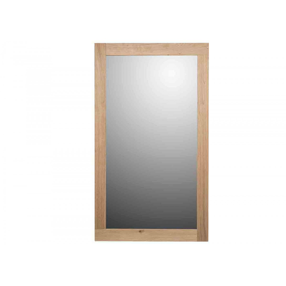Miroir en ch ne naturel brut par angel des montagnes for Grand miroir bois brut