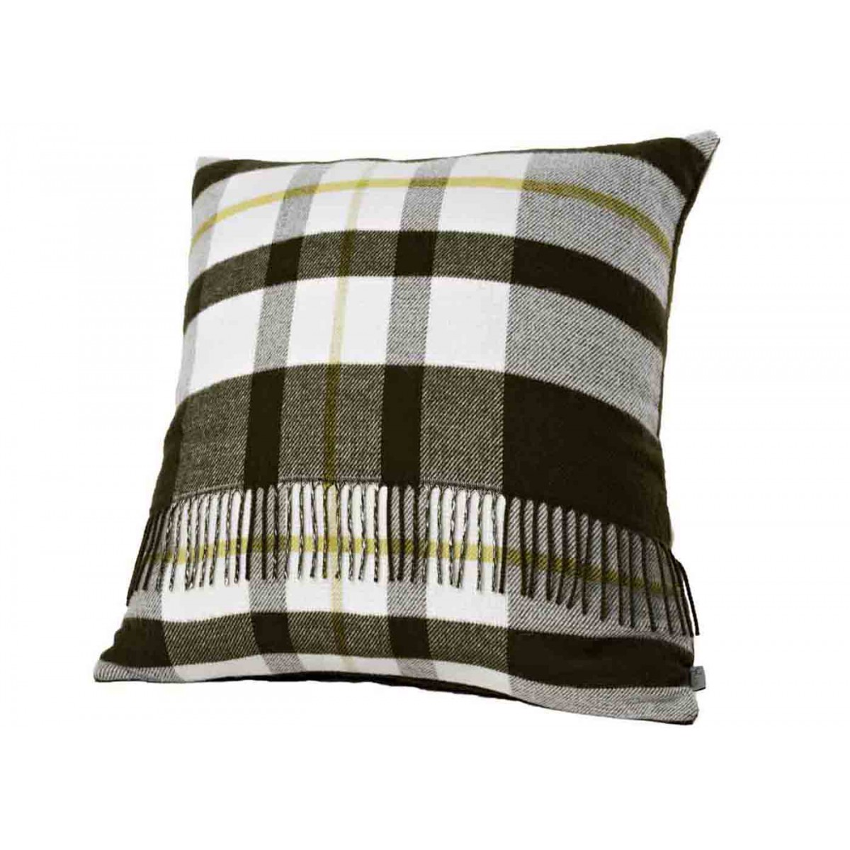 coussin kaki tartan organic sign angel des montagnes. Black Bedroom Furniture Sets. Home Design Ideas