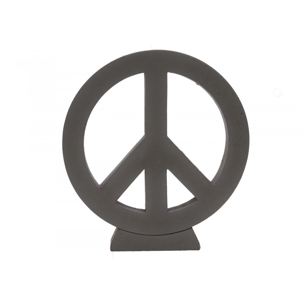 objet d coratif en b ton tr s tendance peace love sign. Black Bedroom Furniture Sets. Home Design Ideas