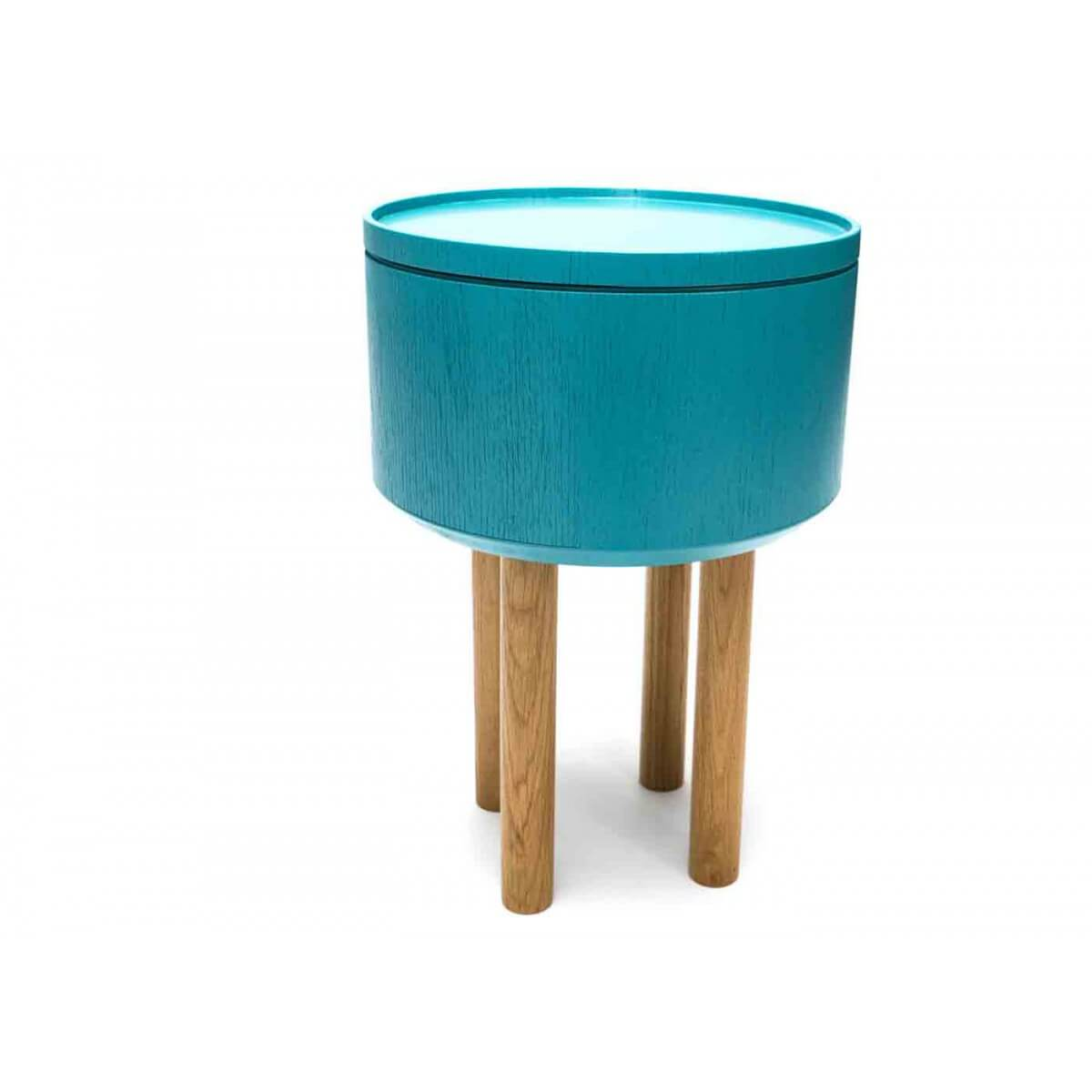 Table basse design scandinave bleu glacier hat 3 par bellila for Table basse d appoint