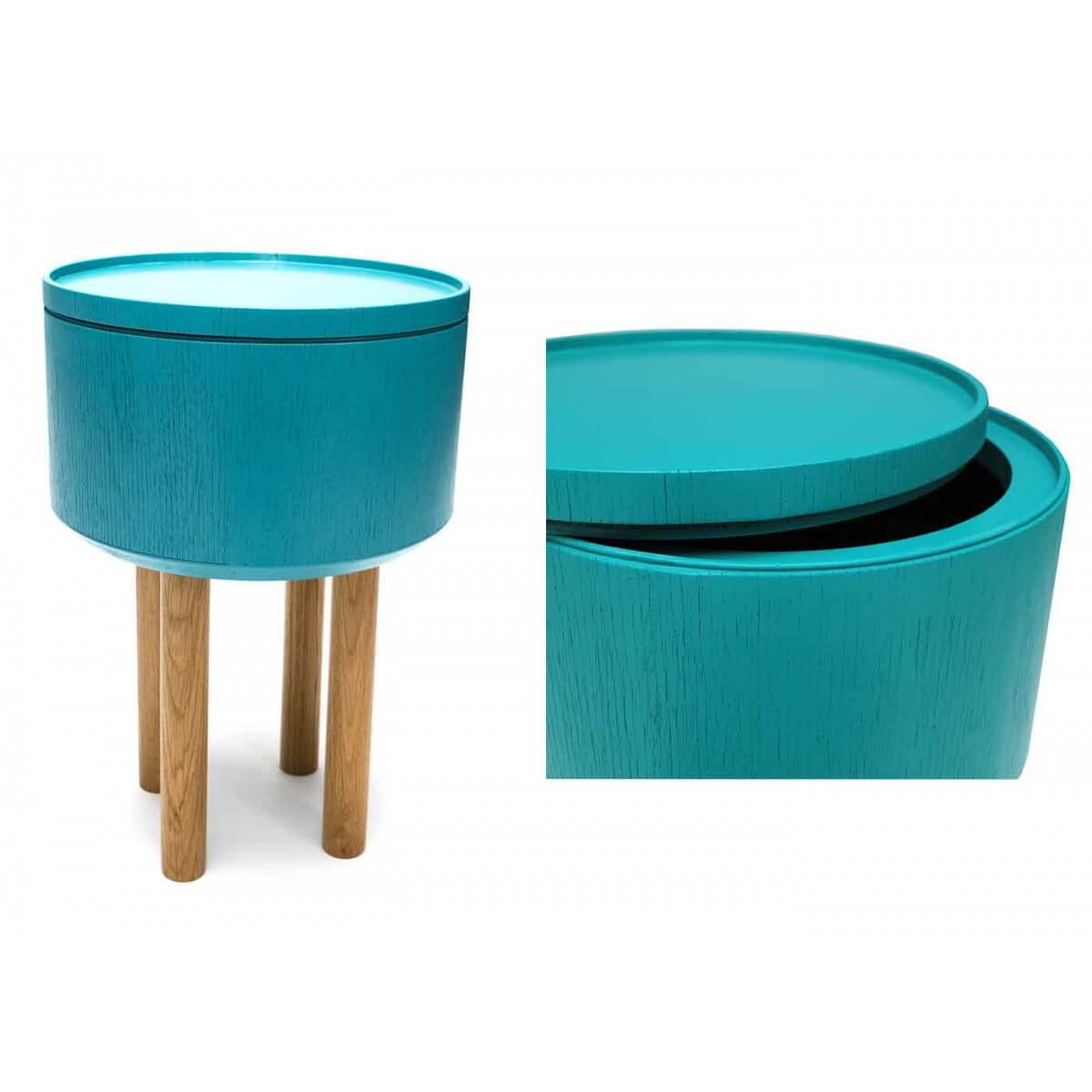 Table basse design scandinave bleu glacier hat 3 par bellila - Table basse bleu ...