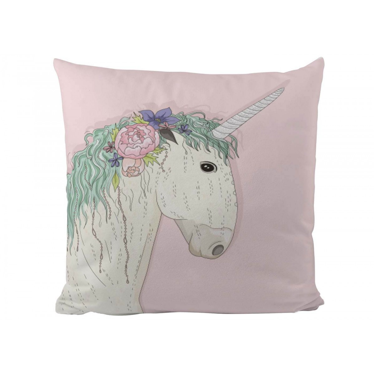 Coussin rose th me licorne pour chambre fille butter kings - Coussin chambre fille ...