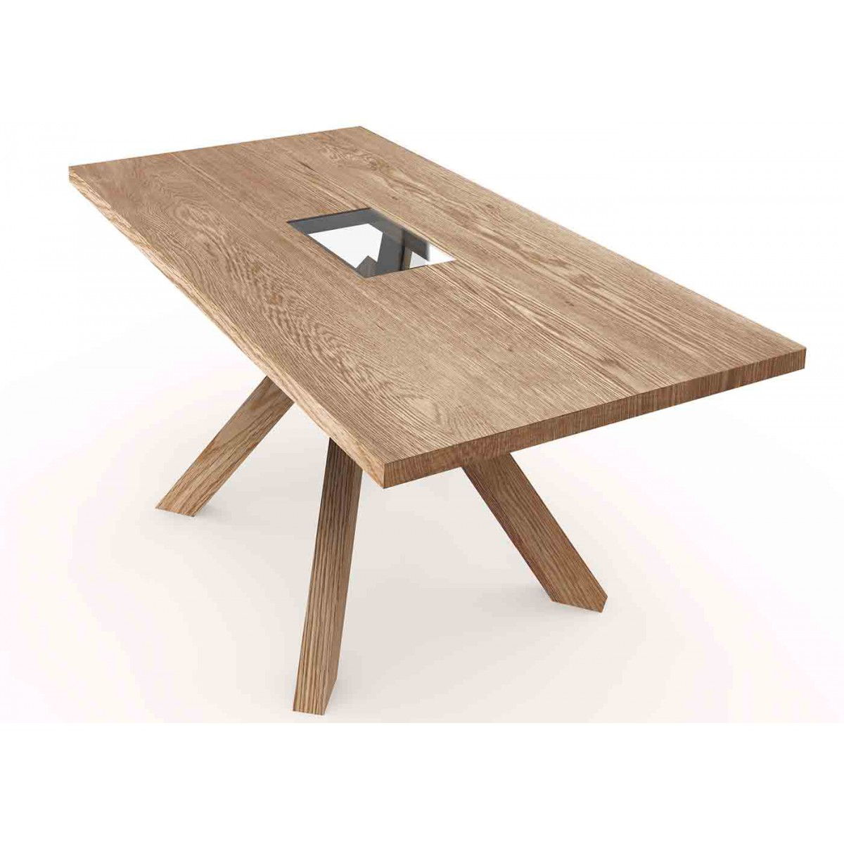 Table de repas en bois design scandinave sign e js filiber - Table moderne bois ...