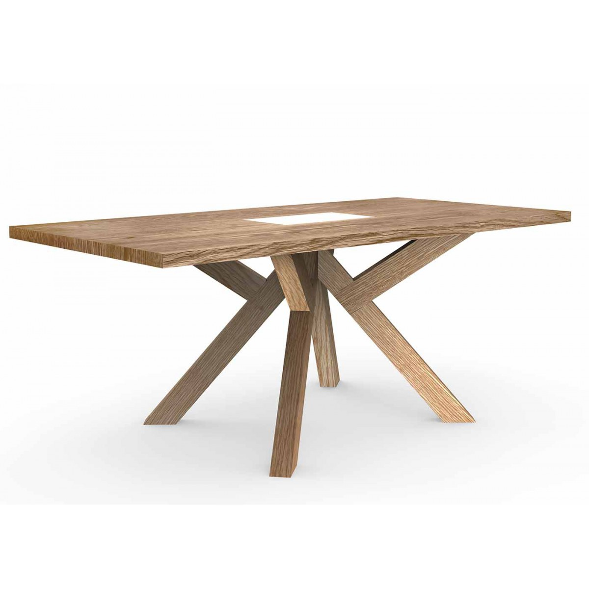 Table de repas en bois design scandinave sign e js filiber - Table moderne en bois ...