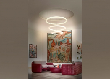 CHANDELIER CONTEMPORAIN 3 SPHERES DESIGN ROBERTO PAOLI - GIOTTO PAR SLIDE