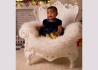 FAUTEUIL ENFANT DESIGN BAROQUE EN POLYETHYLENE 13 COULEURS - LITTLE QUEEN OF LOVE PAR SLIDE Slide