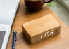 REVEIL HIGH TECH ET DESIGN 7 COLORIS DE BOIS - FLIP CLICK CLOCK PAR GINGKO
