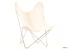 FAUTEUIL AA BUTTERFLY AIRBORNE INOX ET COTON Airborne France