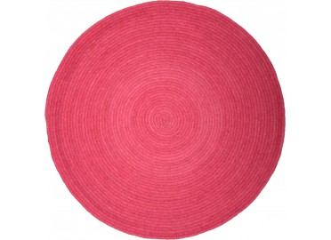 TAPIS ROND ENFANT HALO ROSE PAR NATTIOT
