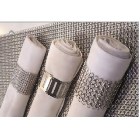 4 RONDS DE SERVIETTE COTTE DE MAILLE