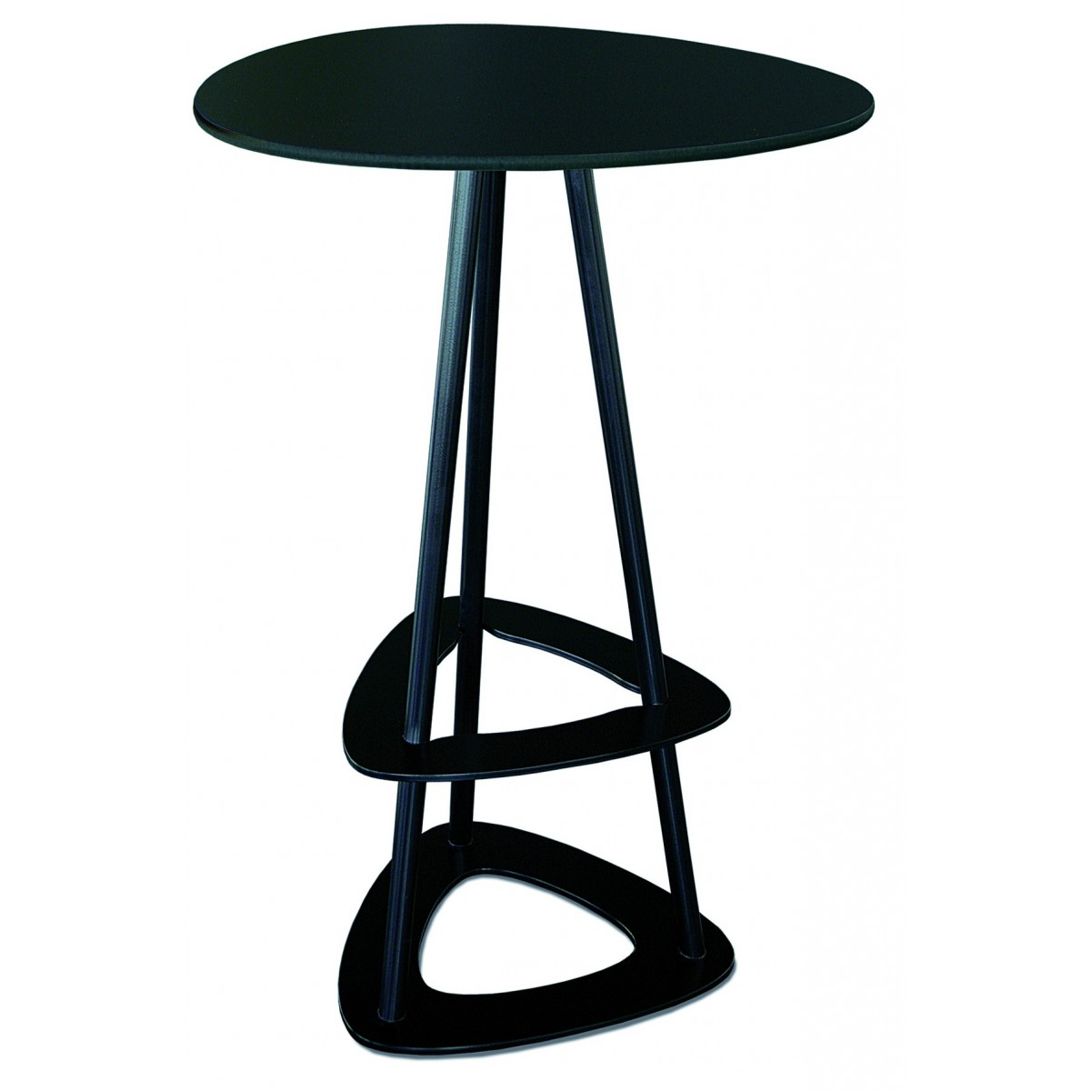 Table haute mange debout design en acier et stratifi par for Table mange debout