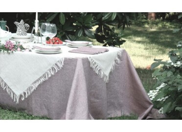 NAPPE CARREE OU RECTANGLE EN CHANVRE BLANC