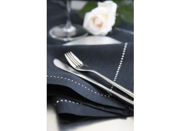 6 SERVIETTES DE TABLE LIN ET SWAROVSKI FASHION