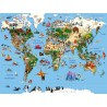 "TABLEAU DECORATIF ""CARTE DU MONDE"" PAR RICHARD UNGLIK"