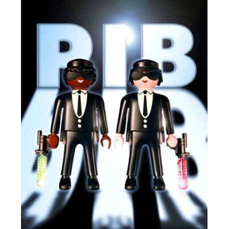 "TABLEAU ""MEN IN BLACK"" PAR RICHARD UNGLIK"