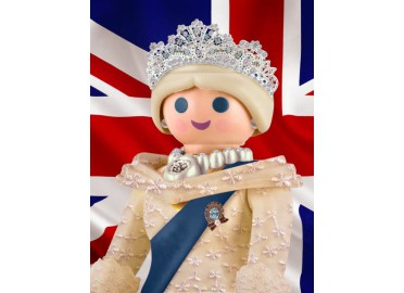 "IDEE DECO BRITISH ""THE QUEEN"" PAR RICHARD UNGLIK"