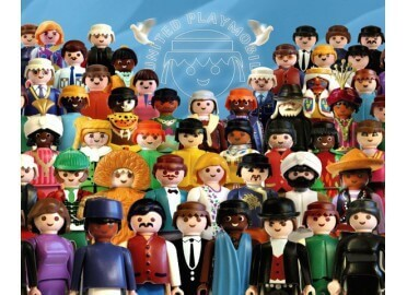 "TABLEAU ""UNITED PLAYMOBILS"" PAR RICHARD UNGLIK"
