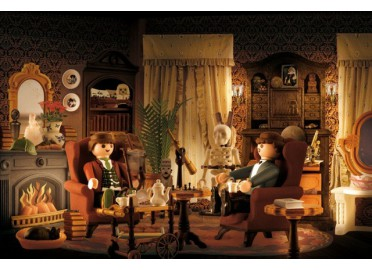 "DECORATION MURALE FANTAISE ""SALON DE SHERLOCK HOLMES"" PAR RICHARD UNGLIK"