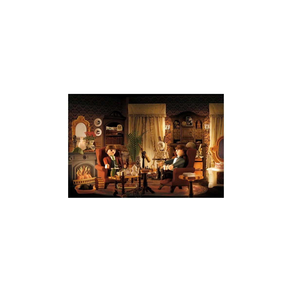 Tableau humoristique salon de sherlock holmes par richard for Decoration murale salon