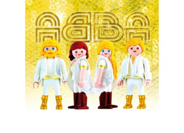 "TABLEAU FANTAISIE COLORE ""ABBA"" PAR RICHARD UNGLIK"
