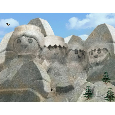 "TABLEAU ""MONT RUSHMORE"" PAR RICHARD UNGLIK"