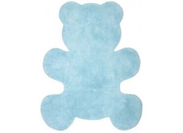 TAPIS ENFANTS BLEU ROSE OU TAUPE OURS LITTLE TEDDY PAR NATTIOT