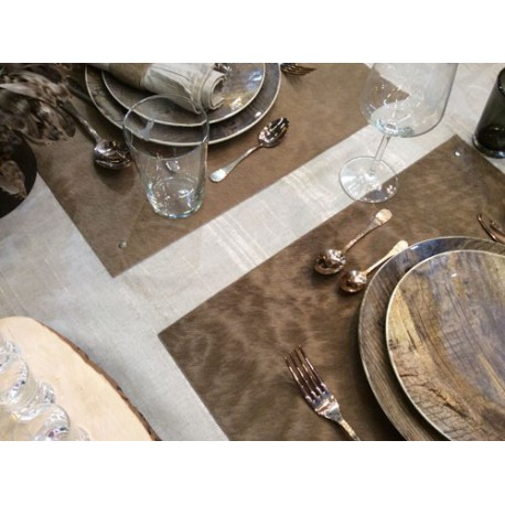 SET DE TABLE EN PEAU NATURELLE