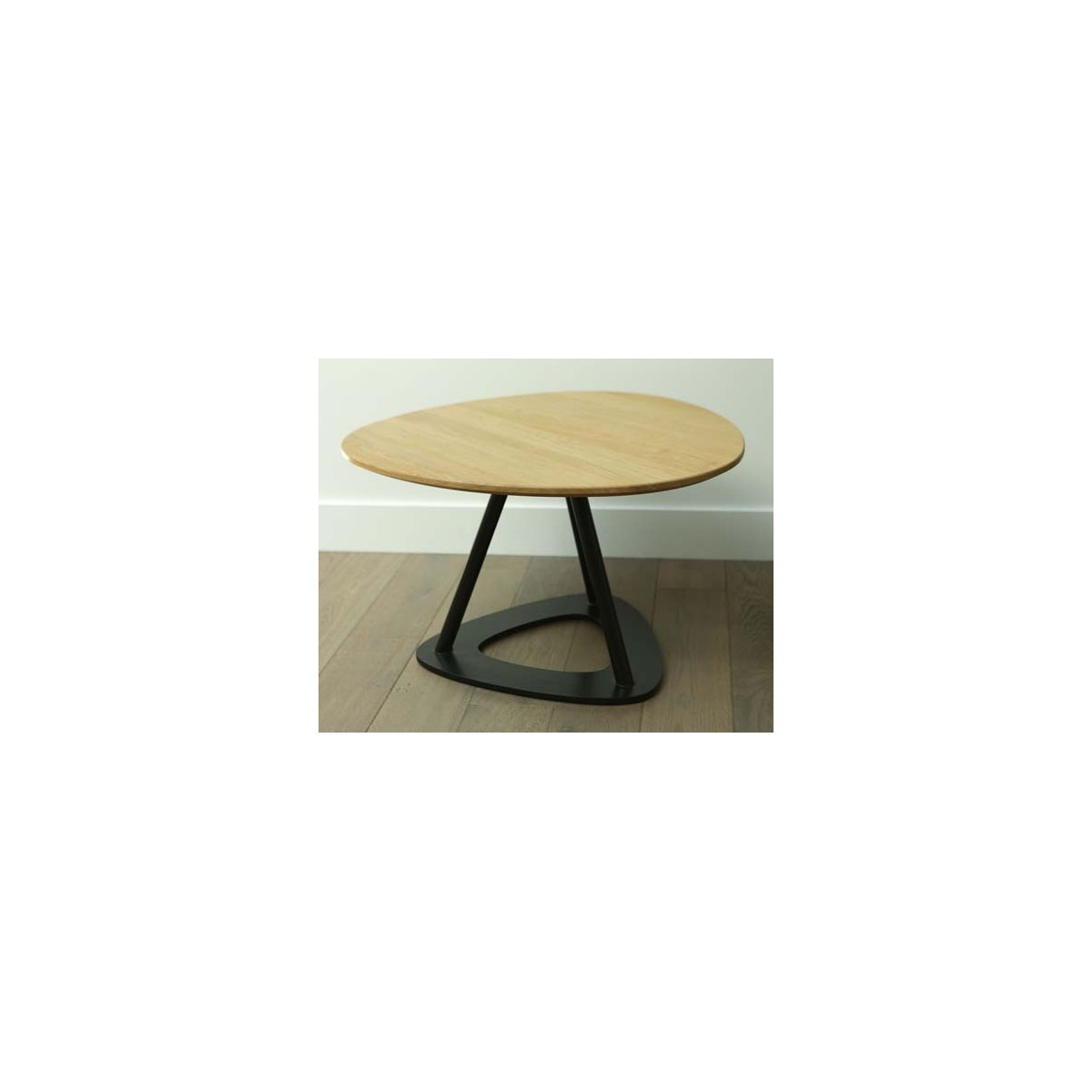 Tables basses contemporaines en ch ne et acier pop bois by - Table bois moderne ...