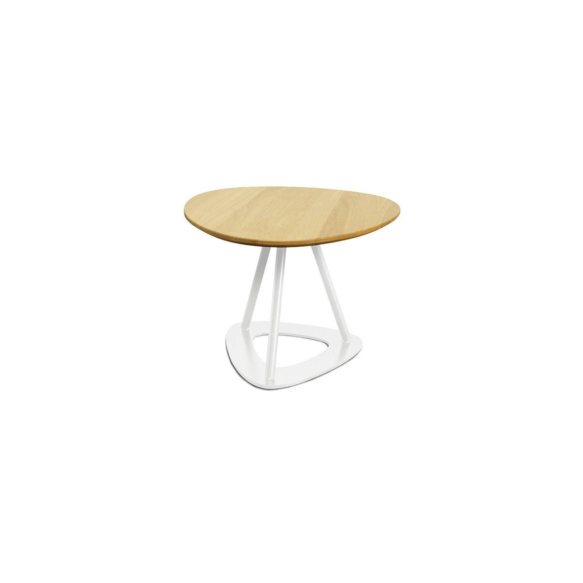 Tables basses contemporaines en ch ne et acier pop bois by - Table moderne en bois ...