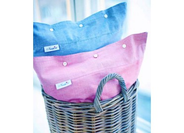 2 TAIES D'OREILLER CHAMBRAY