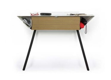 CONSOLE DESIGN SCANDINAVE MDF STRIE