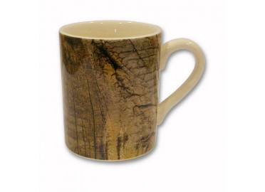 SET DE 6 MUGS / TASSE A THE MOTIF BOIS BRUT ESSENTIEL