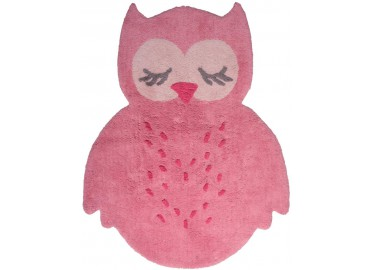 TAPIS ENFANTS HIBOU SWEET PEPA ROSE PAR NATTIOT