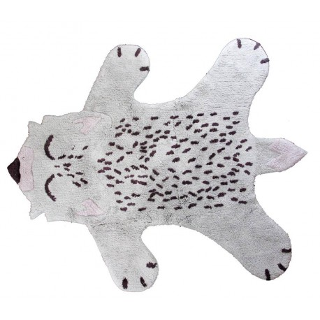 TAPIS ENFANTS FANTAISIE RENARD GRIS LITTLE FOX