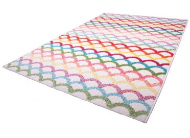 TAPIS FANTAISIE MULTICOLORE BILLY PAR NATTIOT